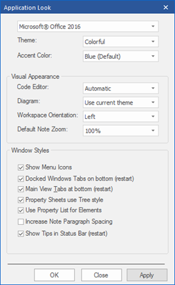 sparx enterprise architect 13 beta office 2016 visual style search