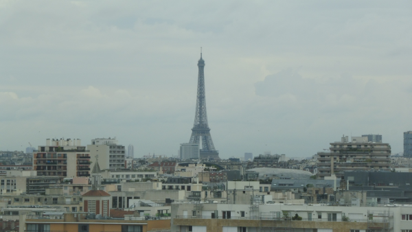 EAUG Paris 2015 lunch with Eiffel Tower