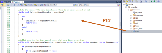 sparx enterprise execution analyzer source code f12