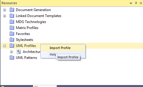 Importing custom profile to a project