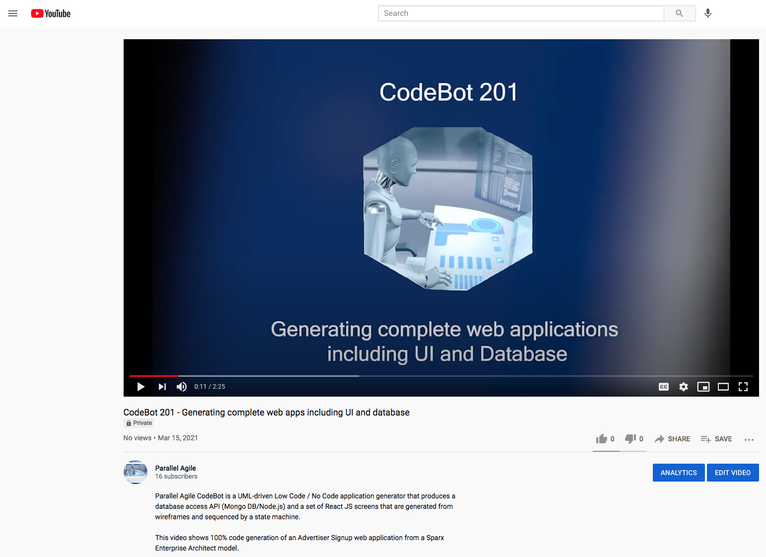 CodeBot 201 Generating complete web apps including UI and database