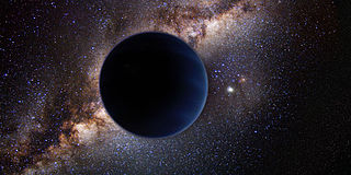 planet nine in outer space artistic depiction