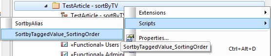 sparx enterprise architect project_browser_script_sortby tagged value open