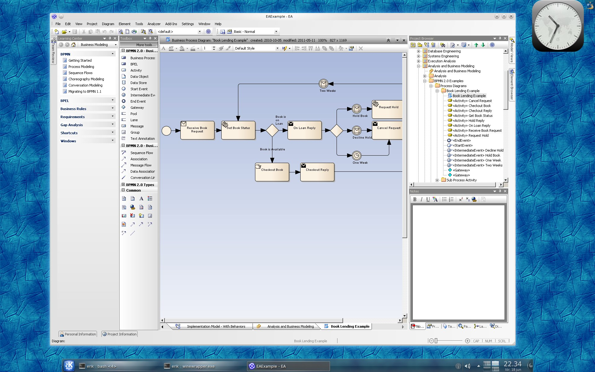 Enterprise Architect 9.0 on Linux with CrossOver 10.