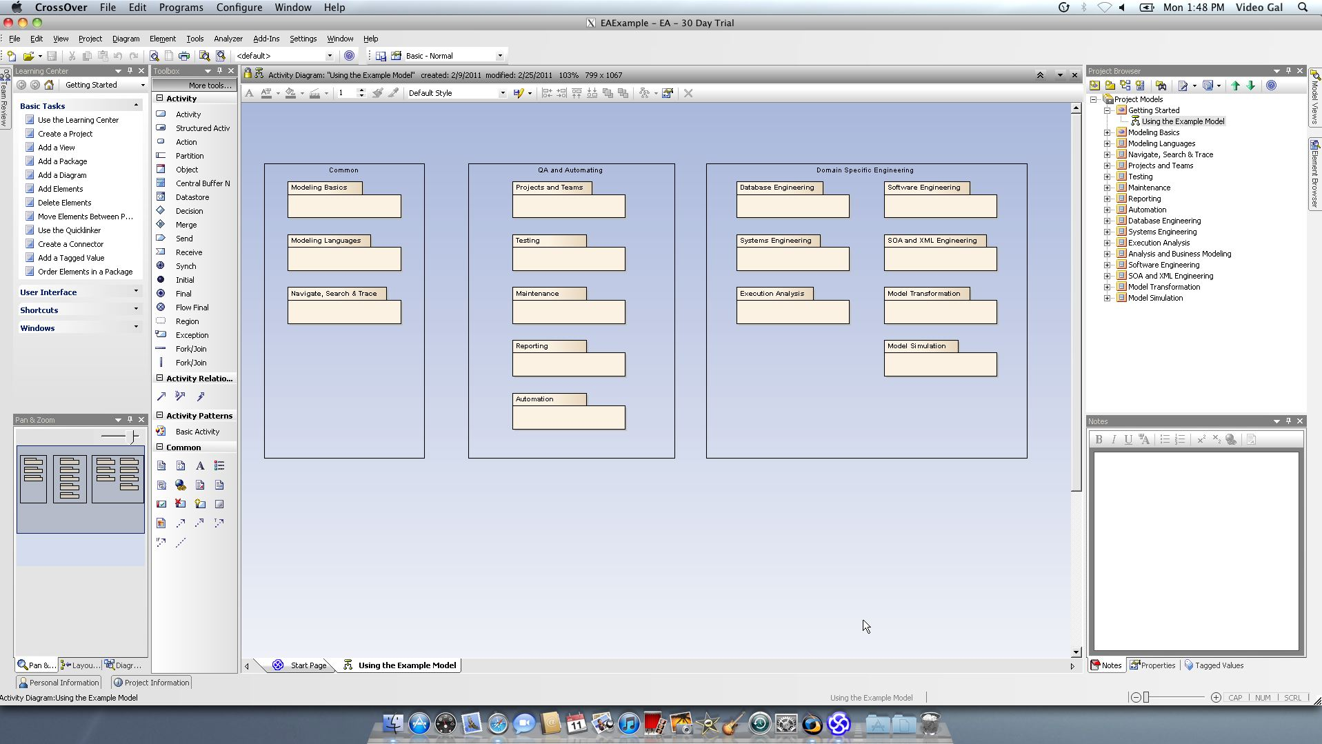 Enterprise Architect 9.0 on Mac with CrossOver 10.