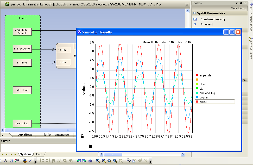 "Figure 14 – Results of simulating the ""Echo"" function are displayed within Enter"